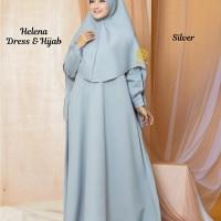 Helena Dress n Hijab Silver M, L