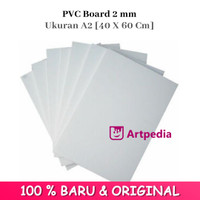 PVC Board 2mm Ukuran A2 [40 X 60 Cm]-Papan Pvc - 2Mm / PVC Foam Board