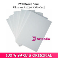 PVC Board 3mm Ukuran A2 [40 X 60 Cm] - Papan Pvc 3 Mm / PVC Foam Board
