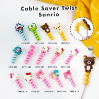 Cable Saver Twist / Pelindung Ujung Kabel Android Apple - SANRIO