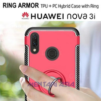 Softcase HUAWEI Nova 3i - RING ARMOR Hybrid Case with RING Holder