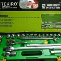 KUNCI SOK SET TEKIRO 24 PCS SOCKET SET KUNCI SOKET SET TEKIRO 24PCS