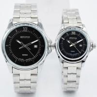 Harga Satuan Jam Tangan Couple Seiko SK602L Rantai Silver Black