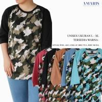Murah Amaris Fashion - Kaos Raglan Army Warna - Kaos Atasan D