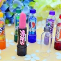 lipstik unik cantik tahan lama lucu bagus hasil akhirnya merah muda