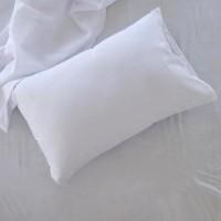 Sarung Bantal Tidur Standar Hotel , Motif Strip Salur , Bahan Katun