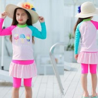 Baju Renang/Diving/Swimsuit Anak UPF50+ Es Cone Yummy Pink CL4039A