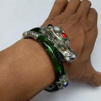 gelang akar bahar hijau design naga