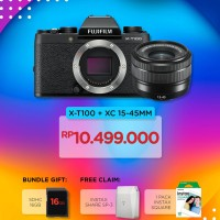 Harga fujifilm x t100 xt100 mirrorless camera kit xc 15 45mm xf35mm f1 | Pembandingharga.com