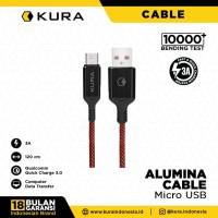 KURA Alumina Cable - Kabel Data Micro USB 3A