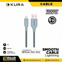 KURA Smooth Cable - Kabel Data Lightning 3A