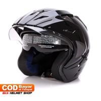 Helm Dewasa WTO Helmet Pro Sight Double Visor Black