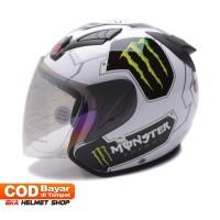 Helm Dewasa MSR Helmet Javelin Monster Putih