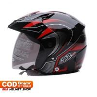 Helm Dewasa WTO Helmet Z1R PET R2 Rider Hitam Merah