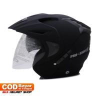 Helm Dewasa WTO Helmet Pro Sight Double Visor Hitam Doff