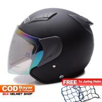 Helm Dewasa MSR Helmet Javelin Hitam Doff Promo Gratis Jaring Helm