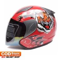 Helm Dewasa MSR Helmet Javelin Tiger Merah