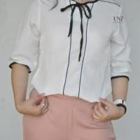 582710d9f0cc Blus Atasan Wanita Korea Model List dan Tali di Leher - LNZ Jessa