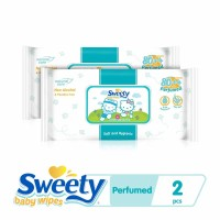 Twinpack Sweety Baby Wipes Perfumed 80+4s