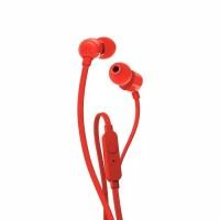 ASJ T110 in ear earphone with microphone & flat cable warna orange