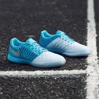 34fbc3e264cc Sepatu Futsal Nike Lunar Gato II IC - Half Blue Metallic Sil