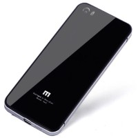 New Aluminium Tempered Glass Hard Case For Xiaomi Mi5 - Black Gold -