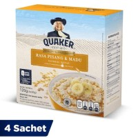 HOT SALE Quaker Oatmeal Pisang Madu Box 4 Sachets FS Terjamin