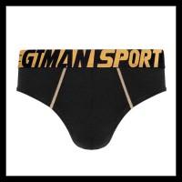NEW LIST GT MAN SPORT- BRIEF- 2PCS- SPKB05 - HITAM, M TERMURAH
