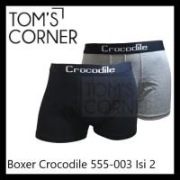 TERMURAH BOXER CROCODILE 555-003 | BOXER PRIA | CELANA DALAM PRIA |ISI