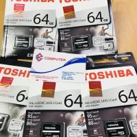 Termurah Toshiba Micro Sd 64Gb R95Mb/W80Mb M401 Exceria Pro + Adapter