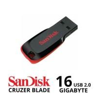 Berkualitas Flashdisk Sandisk Cruzer Blade 16 Gb  Flash Disk 16Gb  Usb