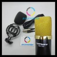 Promo Microphone Bm 700 Mic Condenser For Smartphone Pc Laptop - Hitam