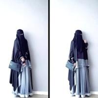 abaya /gamis syari /niqab/cadar/mumer/jilbab/khimar syari/jet black