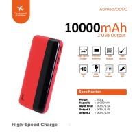 Powerbank JETE Romeo 10000mAh - Garansi resmi 1 tahun
