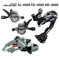 SHIMANO ALIVIO M4000 9S 27S Speed MTB Bicycle Groupset Kit 3 Parts wit