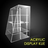 Akrilik display kue acrylic rak cake / akrilic rak sekat roti