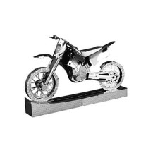 Mainan edukatif 3d Jigsaw puzzle metal MOTORCYCLE