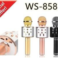 Harga mic bluetooth ws858 microphone karaoke speaker bluetooth | antitipu.com