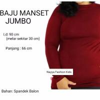 Baju Manset Atasan Lengan Panjang Ukuran Jumbo Fit to XXL