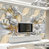 Wallpaper Dinding Bunga 3D- Wallpaper Dinding Custom Bunga Murah