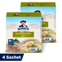 Quaker Oatmeal Soto Ayam Box 4 Sachets - Twin Pack