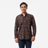 Batik Pria Tampan -KMPJ SLIM ABS DARK BROWN ZIG ZAG CHEVRON - Cokelat, S