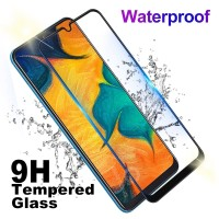 Tempered Glass Full Cover Samsung Galaxy A01 Full Lem, Tidak pelangi