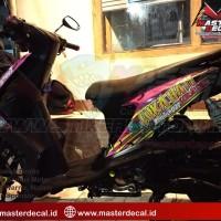STIKER MOTOR Beat carbu strips zombie GRADE A