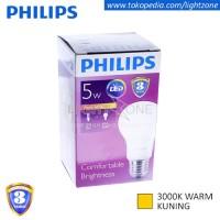 Lampu Bohlam / Lampu LED Philips Kuning Warm White 5W 5 W Watt 5Watt