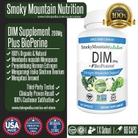 DIM Supplement 200mg BioPerine Untuk Menopause, Estrogen Balance