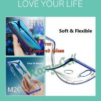 Case samsung M20 M10 Softcase transparan List