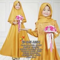 Kid Gamis Jannah Brukat/Gamis Syari Brukat Anak/Gamis Anak