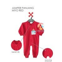 MIYO Red Baju Kodok Buka Kaki 0-3m