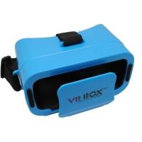 TOP SELLING MINI VR 3D MINI VR BOX BLUE VIRTUAL REALITY CARDBOARD FOR